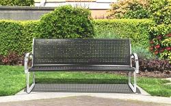 725101 Skyline Black Bench